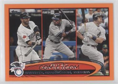 2012 Topps - [Base] - Factory Set Orange #302 - Curtis Granderson, Mark Teixeira, Jose Bautista /190
