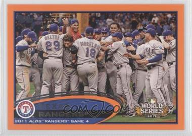 2012 Topps - [Base] - Factory Set Orange #59 - Texas Rangers Team /190