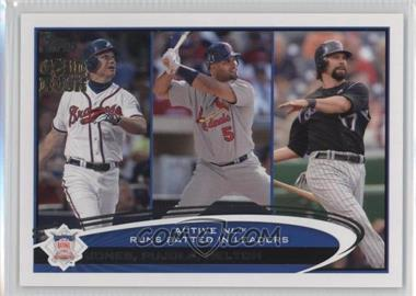 2012 Topps - [Base] - Gold Rush Stamp #159 - Albert Pujols, Todd Helton, Chipper Jones