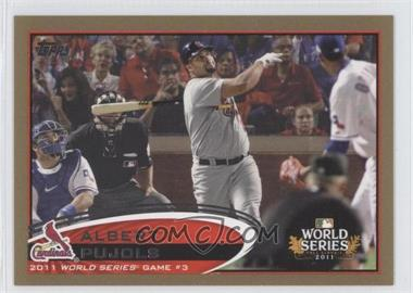 2012 Topps - [Base] - Gold #108 - Albert Pujols /2012