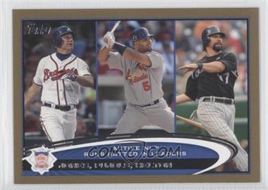 2012 Topps - [Base] - Gold #159 - Albert Pujols, Todd Helton, Chipper Jones /2012