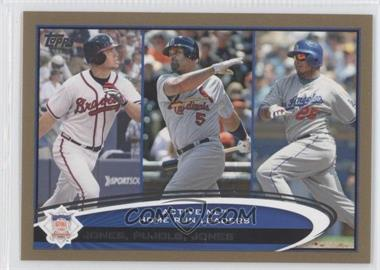 2012 Topps - [Base] - Gold #192 - Albert Pujols, Andruw Jones, Chipper Jones /2012