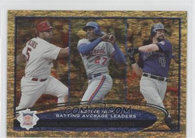 2012 Topps - [Base] - Golden Moments Parallel #124 - Albert Pujols, Vladimir Guerrero, Todd Helton