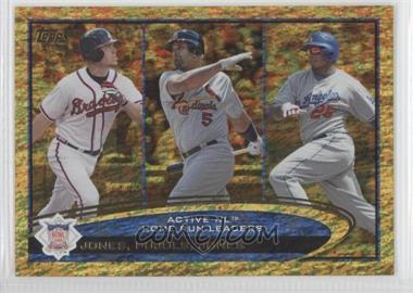 2012 Topps - [Base] - Golden Moments Parallel #192 - Albert Pujols, Andruw Jones, Chipper Jones