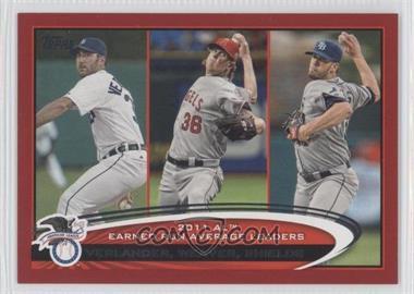 2012 Topps - [Base] - Target Red Border #52 - Clayton Kershaw, Jered Weaver, Justin Verlander