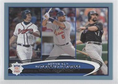 2012 Topps - [Base] - Wal-Mart Blue Border #159 - Albert Pujols, Todd Helton, Chipper Jones