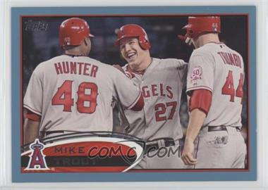 2012 Topps - [Base] - Wal-Mart Blue Border #446 - Mike Trout