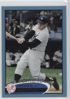 2012 Topps - [Base] - Wal-Mart Blue Border #7 - Mickey Mantle