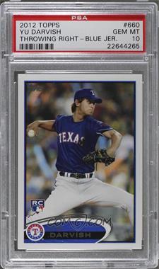 2012 Topps - [Base] #660.1 - Yu Darvish (Dark Blue Uniform) [PSA10]