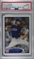 Yu Darvish (Dark Blue Uniform) [PSA 10 GEM MT]