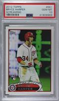 Bryce Harper (White Jersey, Excited) [PSA 10 GEM MT]