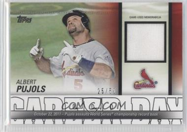 2012 Topps - Career Day - Relics #CDR-AP - Albert Pujols /50