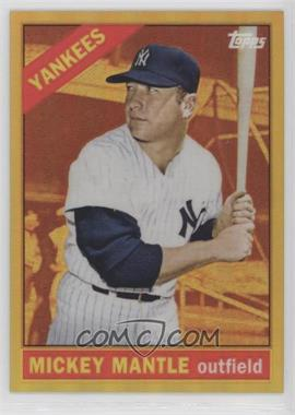 2012 Topps - Factory Set Exclusive Chrome Gold Refractors #50 - Mickey Mantle