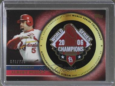 2012 Topps - Gold Commemorative Pin Card #GCP-AP - Albert Pujols /736