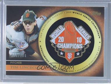 2012 Topps - Gold Commemorative Pin Card #GCP-TL - Tim Lincecum /736