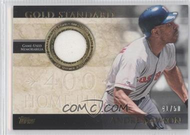 2012 Topps - Gold Standard - Relics #GSR-AD - Andre Dawson /50