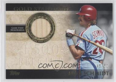 2012 Topps - Gold Standard - Relics #GSR-MS - Mike Schmidt /50