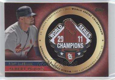 2012 Topps - Gold World Series Pin Card #GWSP-AP - Albert Pujols