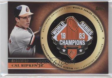 2012 Topps - Gold World Series Pin Card #GWSP-CR - Cal Ripken Jr.