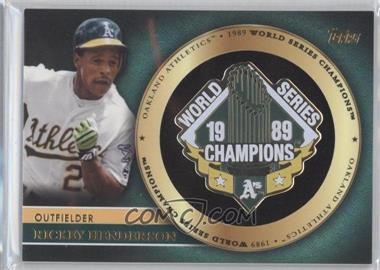 2012 Topps - Gold World Series Pin Card #GWSP-RH - Rickey Henderson
