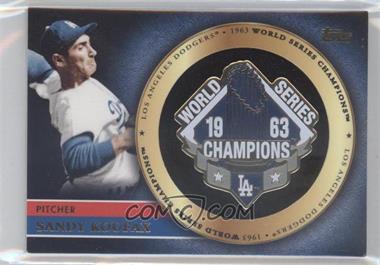 2012 Topps - Gold World Series Pin Card #GWSP-SK - Sandy Koufax