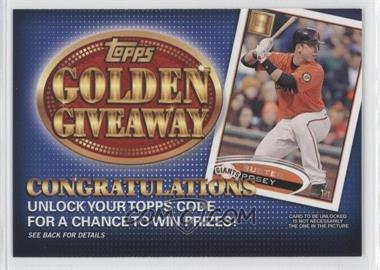 2012 Topps - Golden Giveaway Code Cards #GGC-13 - Buster Posey