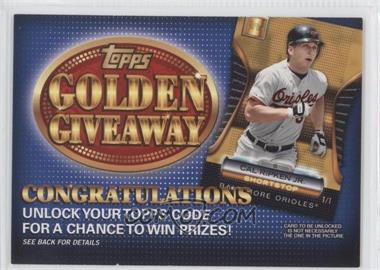 2012 Topps - Golden Giveaway Code Cards #GGC-18 - Cal Ripken Jr.