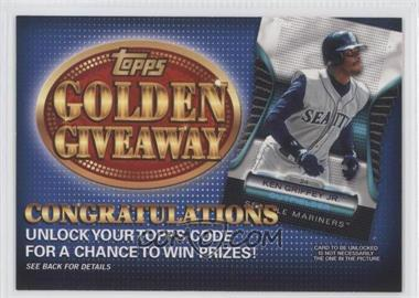 2012 Topps - Golden Giveaway Code Cards #GGC-20 - Ken Griffey Jr.