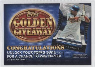 2012 Topps - Golden Giveaway Code Cards #GGC-23 - Tony Gwynn