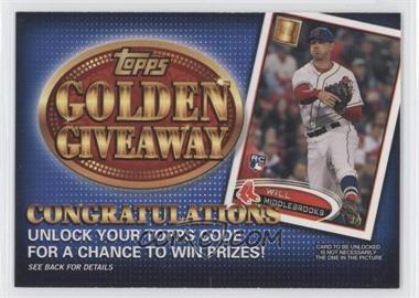 2012 Topps - Golden Giveaway Code Cards #GGC-30 - Will Middlebrooks