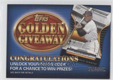 2012 Topps - Golden Giveaway Code Cards #GGC-7 - Willie Mays