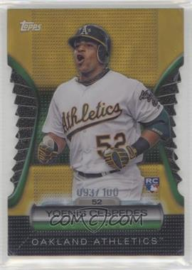 2012 Topps - Golden Giveaway Contest Golden Moments Die-Cut - Gold #GMDC-101 - Yoenis Cespedes /100