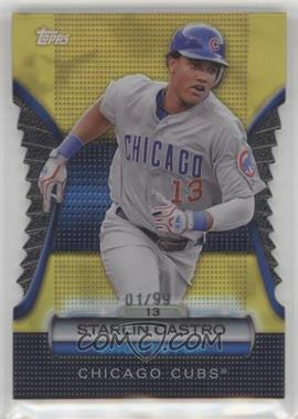 2012 Topps - Golden Giveaway Contest Golden Moments Die-Cut - Gold #GMDC-78 - Starlin Castro /99
