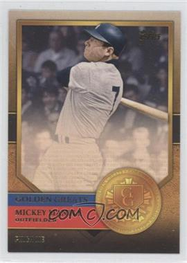 2012 Topps - Golden Greats #GG-32 - Mickey Mantle