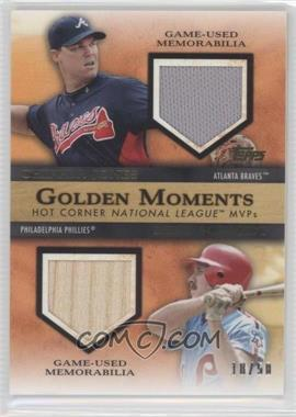 2012 Topps - Golden Moments - Dual Relics #GMDR-JS - Chipper Jones, Mike Schmidt