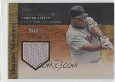 2012 Topps - Golden Moments Game-Used Memorabilia - Gold #GMR-CL - Carlos Lee /99
