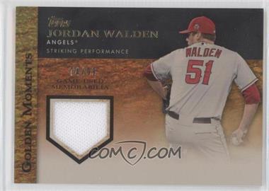 2012 Topps - Golden Moments Game-Used Memorabilia - Gold #GMR-JWA - Jordan Walden /99