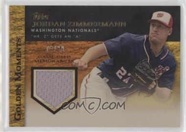 2012 Topps - Golden Moments Game-Used Memorabilia - Gold #GMR-JZ - Jordan Zimmermann /99