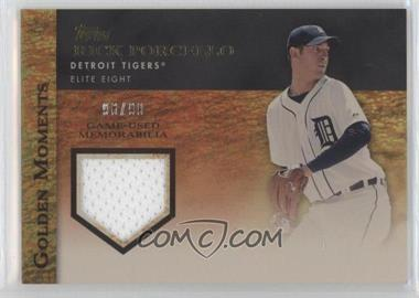 2012 Topps - Golden Moments Game-Used Memorabilia - Gold #GMR-RP - Rick Porcello /99