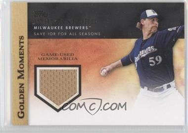 2012 Topps - Golden Moments Game-Used Memorabilia #GMR-JA.1 - John Axford