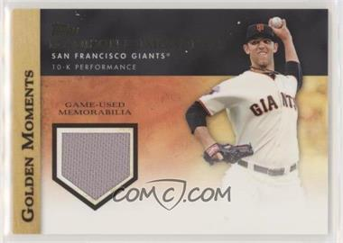 2012 Topps - Golden Moments Game-Used Memorabilia #GMR-MB.1 - Madison Bumgarner