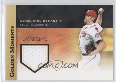 2012 Topps - Golden Moments Game-Used Memorabilia #GMR-SST - Stephen Strasburg