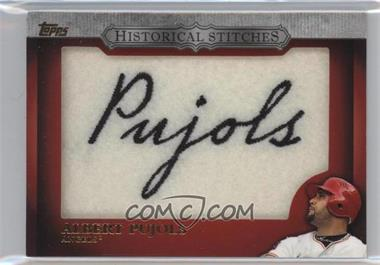 2012 Topps - Manufactured Historical Stitches #HS-AP - Albert Pujols