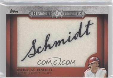 2012 Topps - Manufactured Historical Stitches #HS-MS - Mike Schmidt