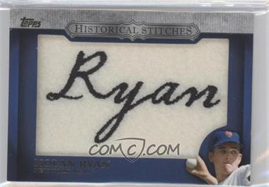 2012 Topps - Manufactured Historical Stitches #HS-NR - Nolan Ryan