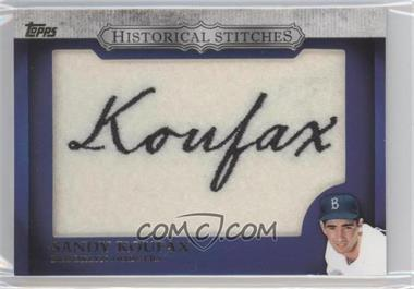2012 Topps - Manufactured Historical Stitches #HS-SK - Sandy Koufax