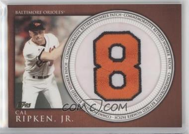 2012 Topps - Manufactured Retired Number Patch #RN-CR - Cal Ripken Jr.