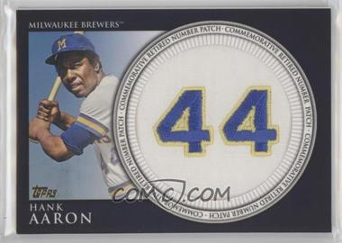 2012 Topps - Manufactured Retired Number Patch #RN-HA.2 - Hank Aaron (Brewers)