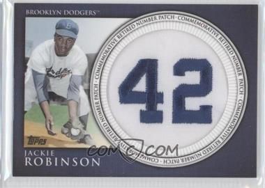 2012 Topps - Manufactured Retired Number Patch #RN-JR - Jackie Robinson