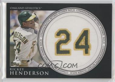 2012 Topps - Manufactured Retired Number Patch #RN-RH - Rickey Henderson